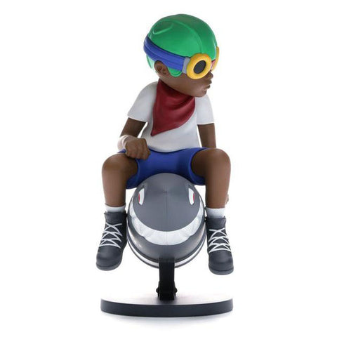 "Hebru Brantley x Billionaire Boys Club x Bait Beyond The Beyond Fly Boy Figure 9"" White/Multi"
