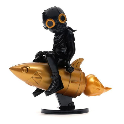 "Hebru Brantley x Billionaire Boys Club x Bait Beyond The Beyond Fly Boy Figure 9"" (Black/Gold)"