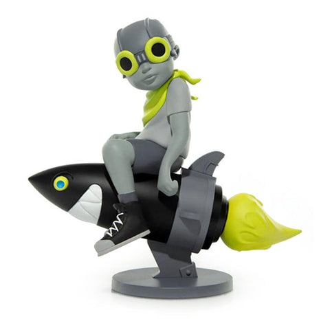 "Hebru Brantley x Billionaire Boys Club x Bait Beyond The Beyond Fly Boy Figure 9"" Gray/Volt"