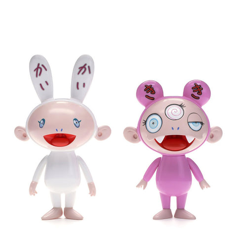 Takashi Murakami Kaikai & Kiki (Blue Eyes) Figures (Set of 2)