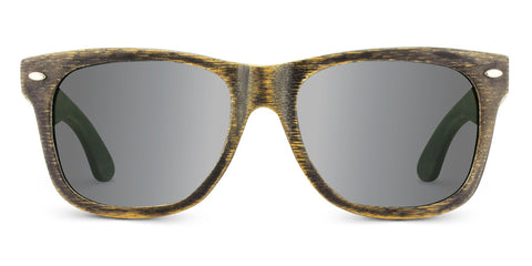Vintage Pacific | Woodgrain Black Wooden Sunglasses