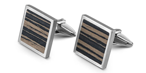 Wood Cufflinks | Ceyon Ebony