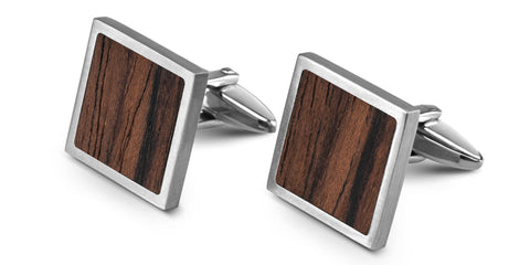 Wood Cufflinks | Rosewood