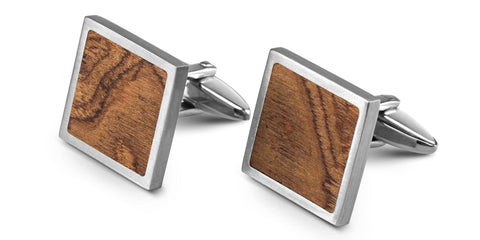 Wood Cufflinks | Walnut Burl