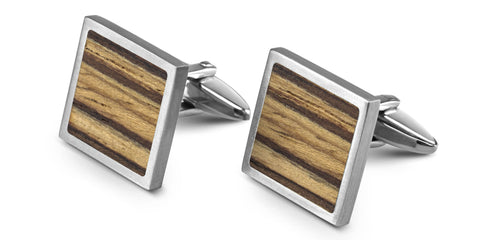 Wood Cufflinks | Zebrawood