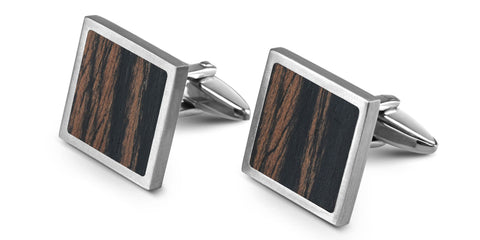 Wood Cufflinks | Ebony