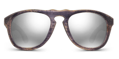 Madison | Woodgrain Blk + Silver Wooden Sunglasses