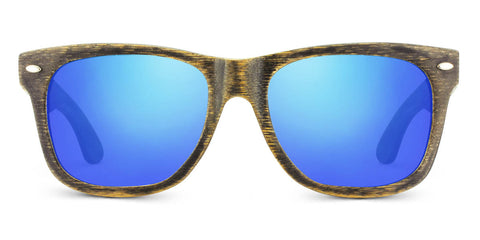 Vintage Pacific | Woodgrain Blk + Blue