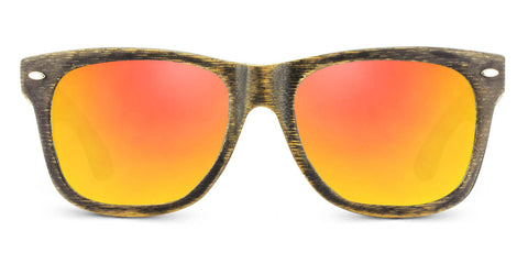 Vintage Pacific | Woodgrain Black + AMBER Bamboo Sunglasses