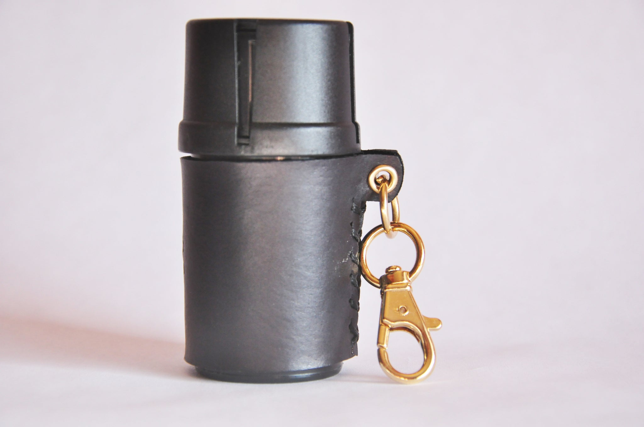 Medtainer Leather Keychain