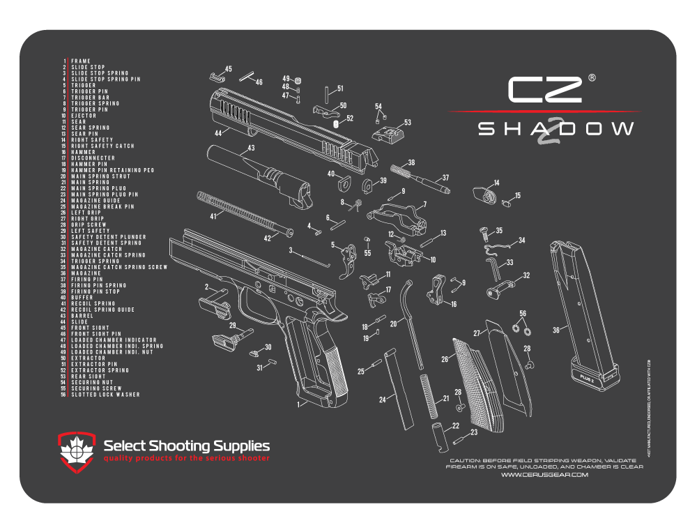 CZ® SHADOW 2 SCHEMATIC PROMAT | Select Shooting Supplies