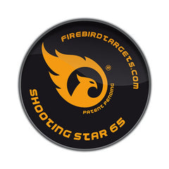 Firebird Reactive Targets, For Live Firing Weapons - Shooting Star 65mm Reactive Targets for Clay Pigeons, 10-Pack