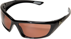 Edge Robson Safety Glasses with Black Frame and Polarized Copper Driving Lens