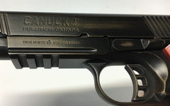 CANUCK Blued 1911 SEMI AUTO, SINGLE ACTION