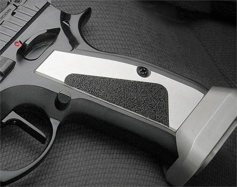 CZ 75 Short Grips Aluminum SILVER (FOR MAG WELL)