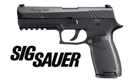 SIG-SAUER P320 with contrast sights, 9MM