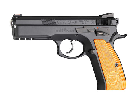 "CZ 75 SP-01 Shadow Orange Semi-Auto Pistol 9mm Orange Grips 4.5"" Barrel"