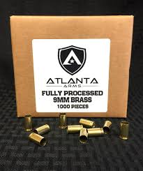 Atlanta Arms - 9MM FULLY PROCESSED BRASS - 1000 PIECES