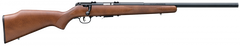 "Savage 93R17 GLV Left Hand Bolt Action Rifle, .17 HMR, 21"" Heavy Barrel, 5 Rounds, Wood Stock, Blued Finish, 96717"