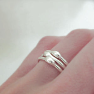 Rain Stacking Ring Set in Sterling Silver - Set of Three - 1.6 mm