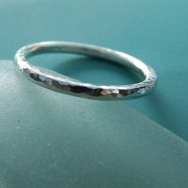 Hand Hammered Ring - Recycled Sterling Silver