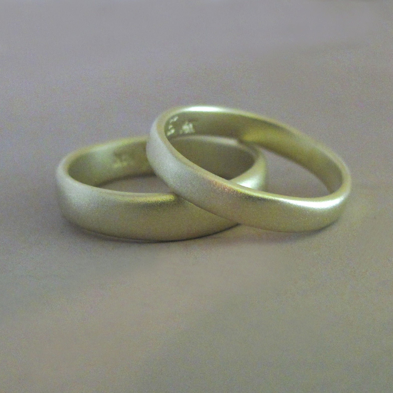 River Wedding Band in 14k Green Gold Choose a Width and Finish