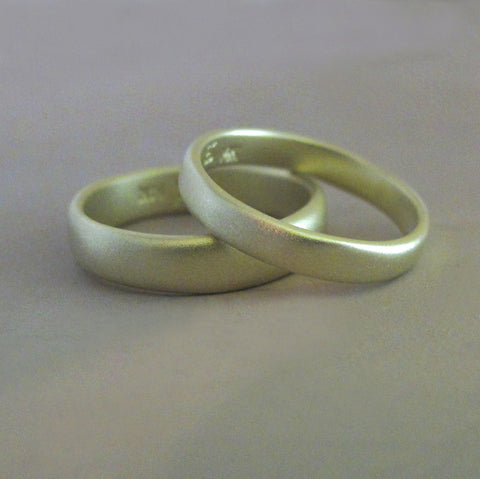 River Wedding Band in 14k Green Gold - Choose a Width and Finish