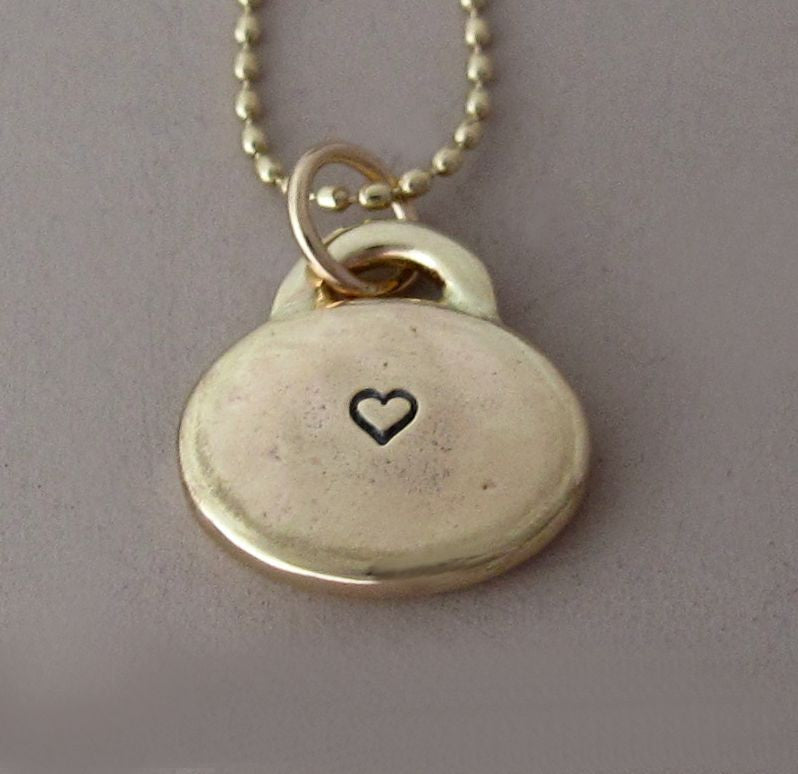 14k Gold Love Necklace with Custom Initials or Heart