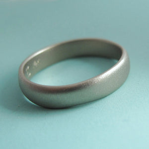 River Wedding Band in 14k Palladium White Gold - Choose a Width and Finish