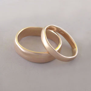 River Wedding Band in 14k Rose Gold - Choose a Width - Matte or Polished Finish