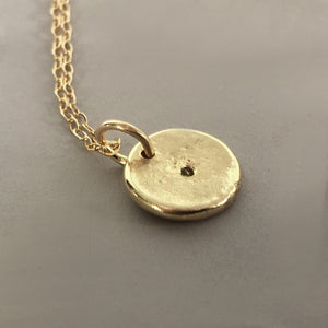 Tiny Star 14k Gold Necklace with Moissanite or Canadian Diamond