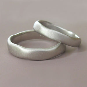 River Wedding Band in Palladium 950 - Choose a Width