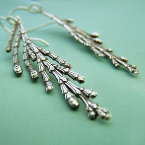 Cedar Branch Earrings - Sterling Silver