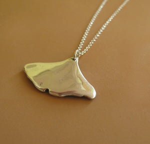 Ginkgo Leaf Necklace - Sterling Silver