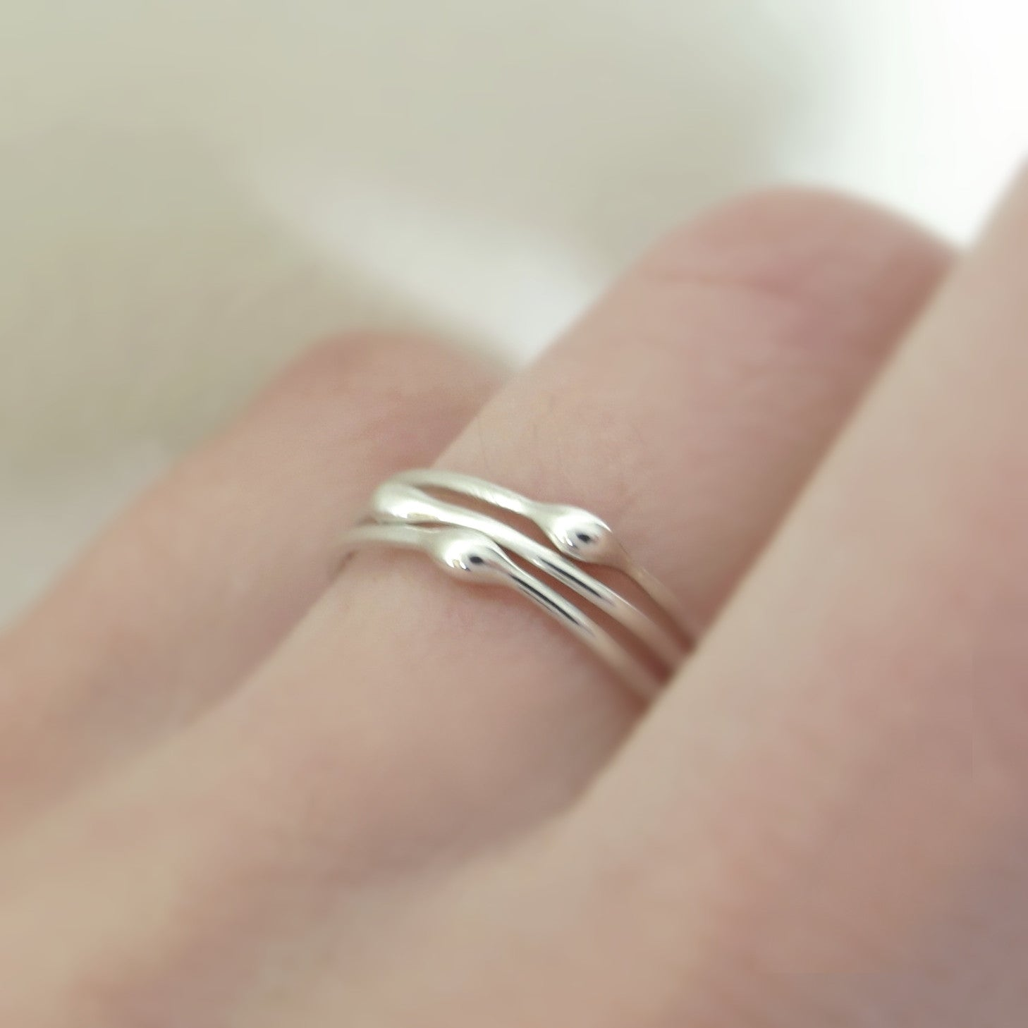 Rain Stacking Ring Set in Sterling Silver - Set of Three