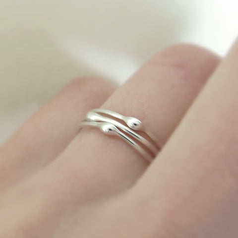 One Rain Stacking Ring in Sterling Silver