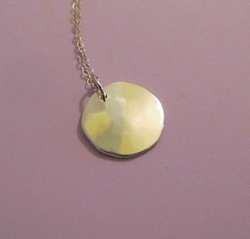Pool Necklace in Hand Hammered 14k Recycled Gold