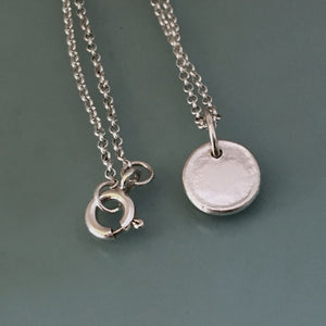 Tiny Initial Necklace, Letter Necklace, Pebble Necklace, Sterling Silver, Custom Stamped, Gift for Mom