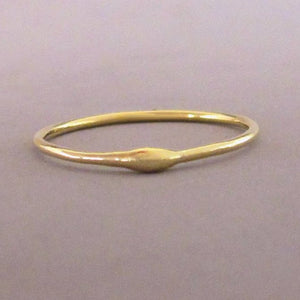 22k Gold Stacking Ring - Rain