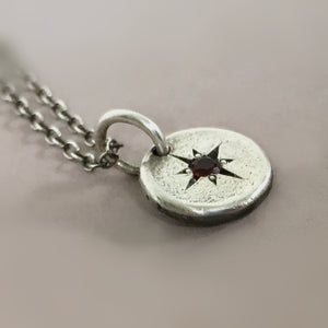 Star Set Birthstone Necklace in Sterling Silver
