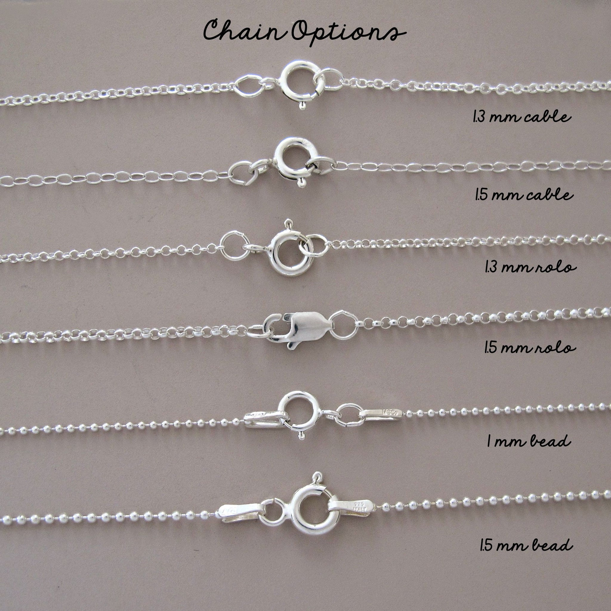 Replacement Chain in Sterling Silver
