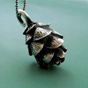 Sterling Silver Pine Cone Necklace - Hemlock