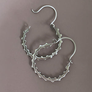 Laurel Twig Hoop Earrings in Sterling Silver