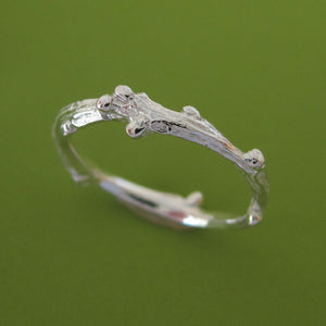 Sterling Silver Twig Ring - Live Oak