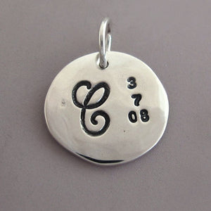 "Sterling Silver Mother's Necklace Charm - 1/2"" (Add a Charm)"