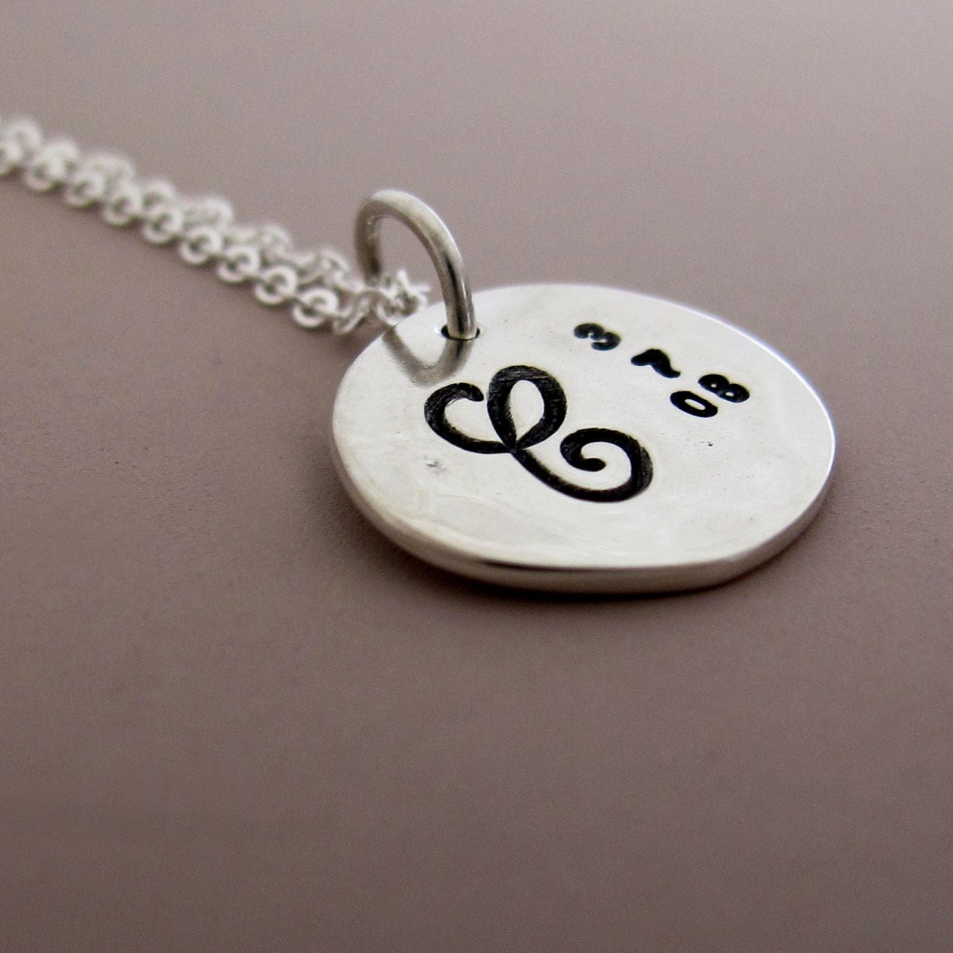 Sterling Silver Mother's Necklace - 1/2""