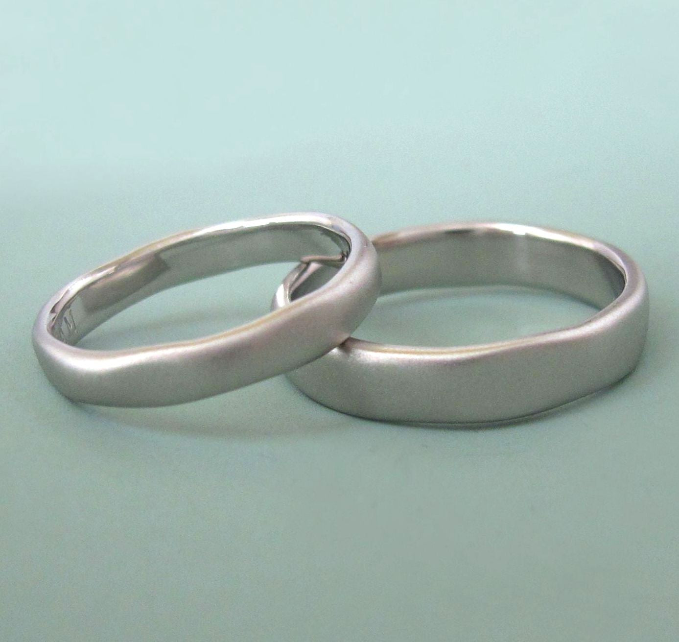 River Wedding Band in Palladium 950 - Choose a Width - Matte or Polished Finish
