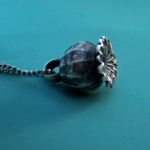 Poppy Pod Necklace - Sterling Silver