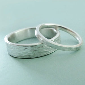 Ripple Wedding Band in Sterling Silver - Choose a Width