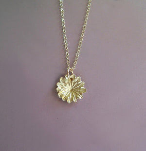 Tiny Poppy Necklace in 14k Yellow Gold